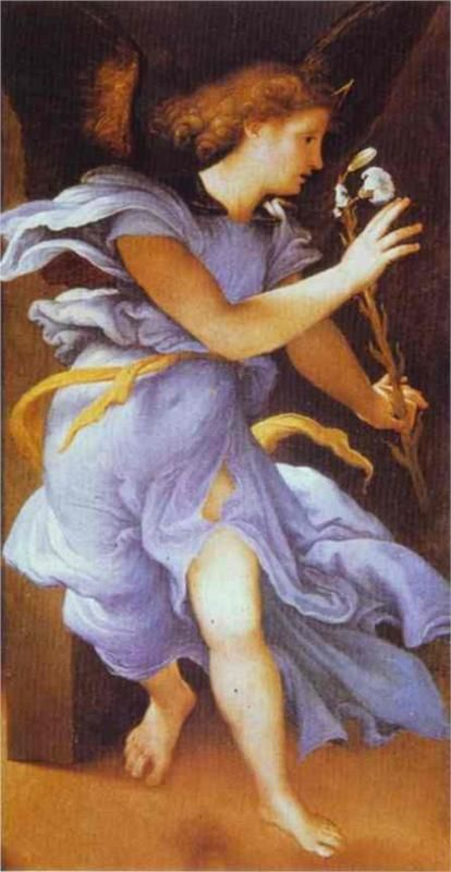 Lorenzo Lotto - Angel of Annunciation 1530