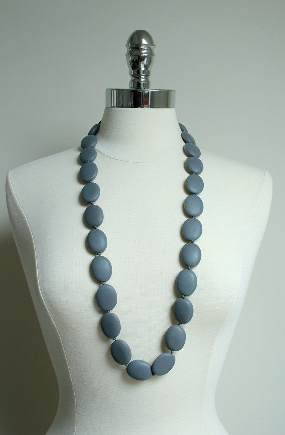 Betty Chunky Statement Matte Resin Bead Necklace by scooterbeads