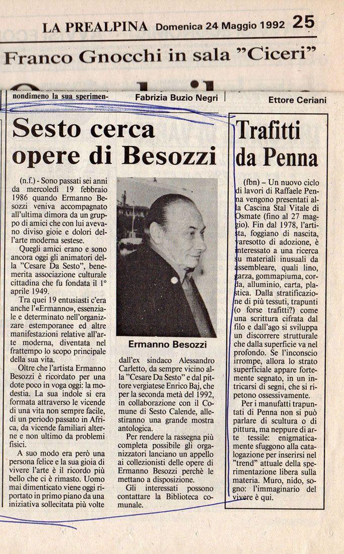 1992 Giornale La Prealpina Varese