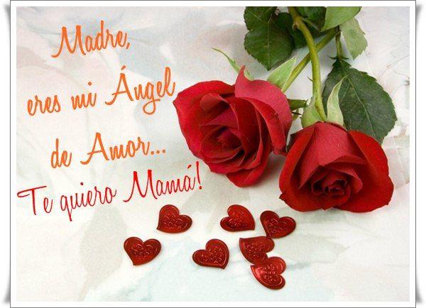 Imágenes de rosas con frases para mi mamá