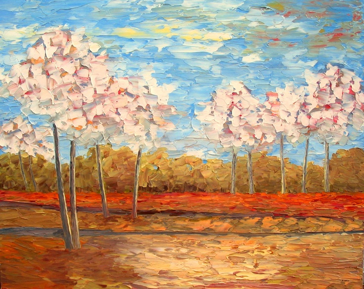Blossoming Trees 48x60