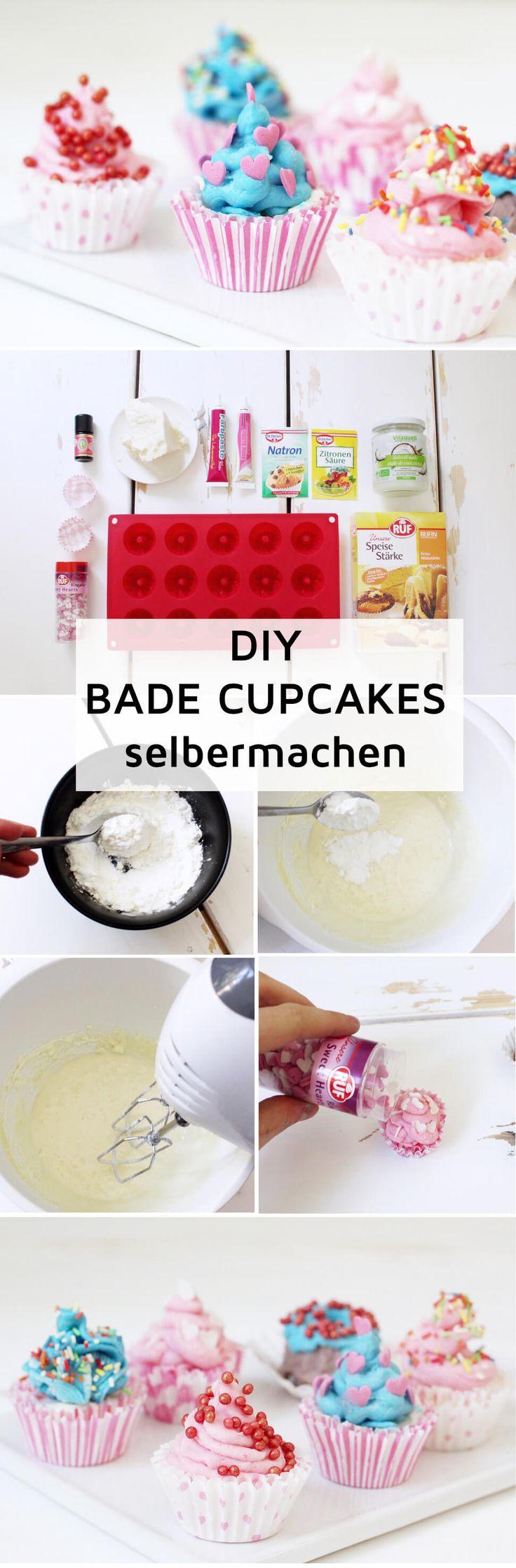 Badebomben in Cupcake-Form Selbermachen: Tolle DIY Geschenkidee für Weihnachten!