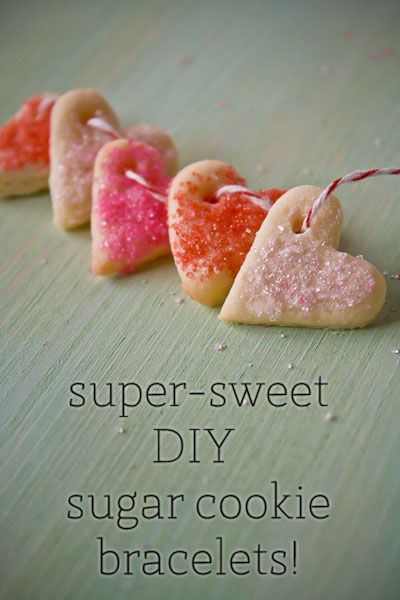 DIY wear your heart on your sleeve: sweet sugar cookie bracelets! from @food + words