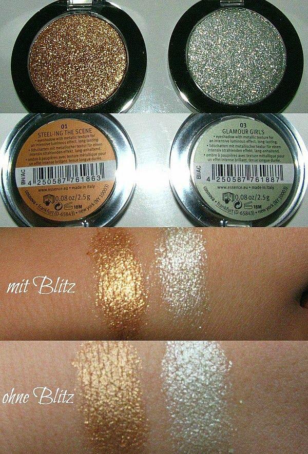 essence Metal Glam LE - Reviews, Photos, Swatches Metal Eye Shadows gold & silver |Madame Keke #makeup #beauty