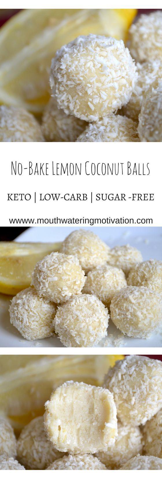No-Bake Lemon Coconut Balls #keto #lowcarb #lemon #coconut