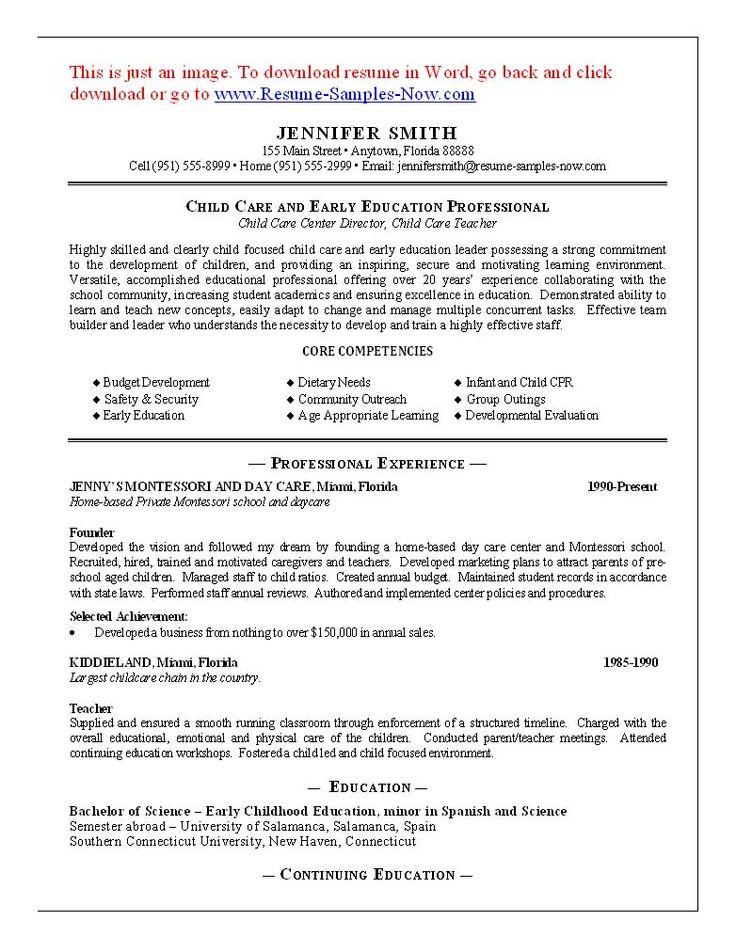 11 Child Care Sample Resume Best  Riez Sample Resumes