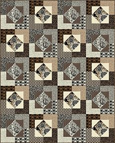 "Check out our FREE ""Nico"" quilt pattern using the collection, ""Sgraffito"" by Elise K for Contempo Studio. Designed by Stitched Together Studios. 