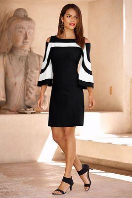 Travel colorblock dress from Boston Proper