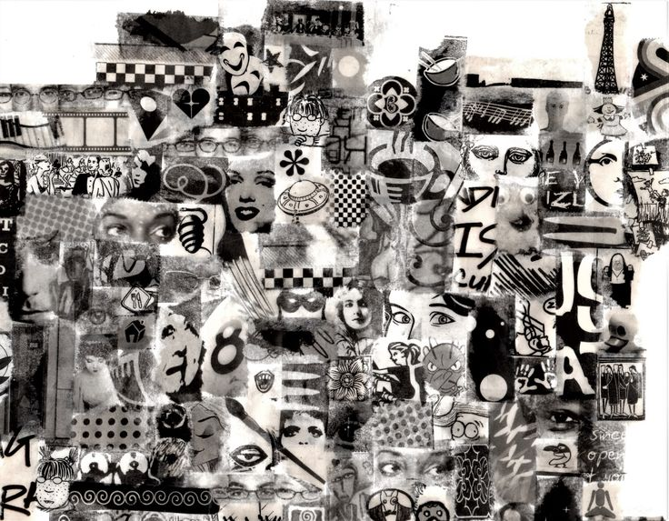 Daily News #1 by Mara Krumins   Tape and newspaper collage