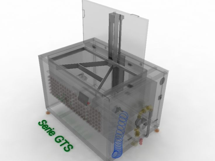 GTS-150 1500 Litros 12000 Vatios de Ultrasonidos 15000 Vatios de Calentamiento Medidas Internas: 1700 x 1100 x1000 Medidas Útiles: 1680 x 960 x 840 Capacidad de carga: 1000 Kilos