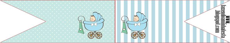 Bandeirinha Sanduiche Chá de Bebê ou Chá de Fraldas: