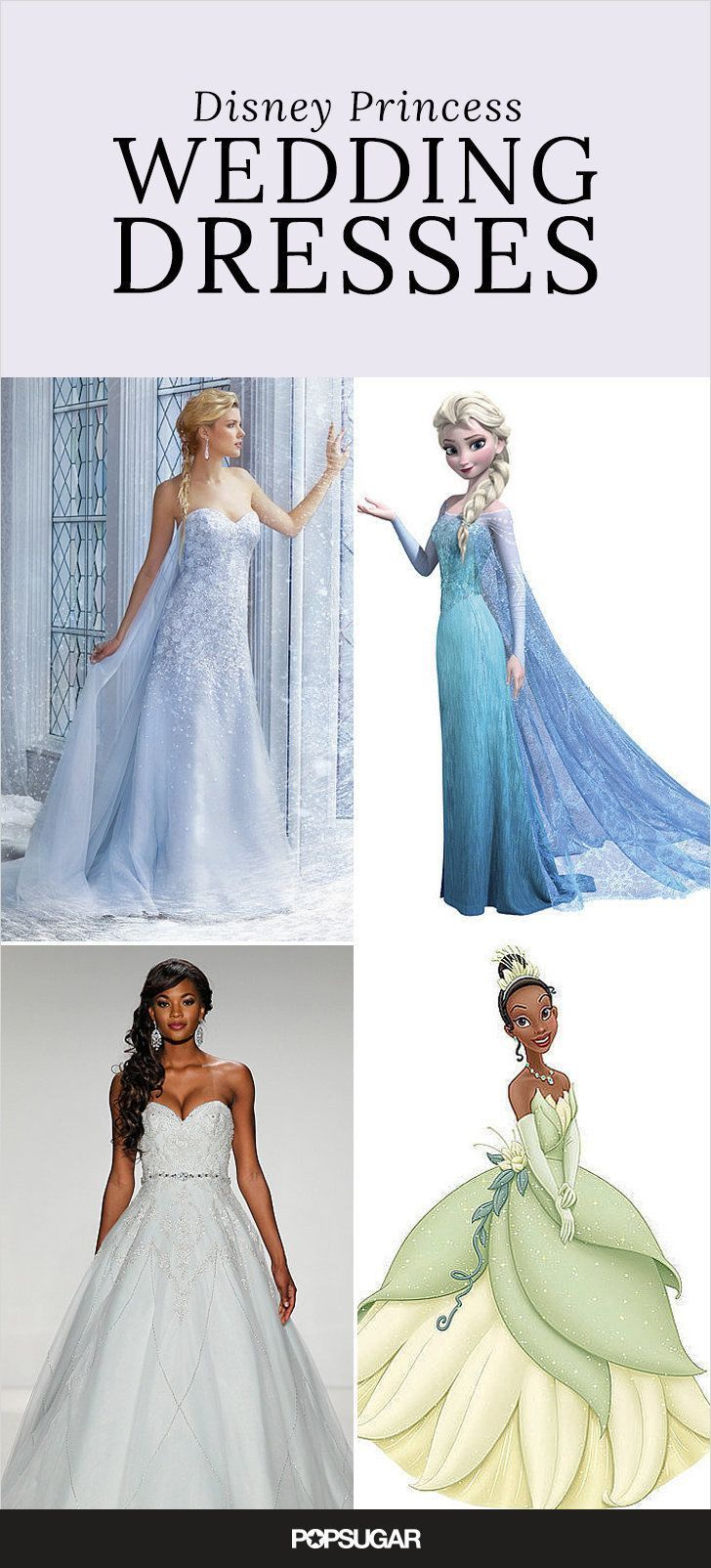 If  you love Disney and needed the perfect way to tie in your favorite princess to your wedding day, check out these Disney inspired gowns. The princess wedding of your dreams is just a dress away.