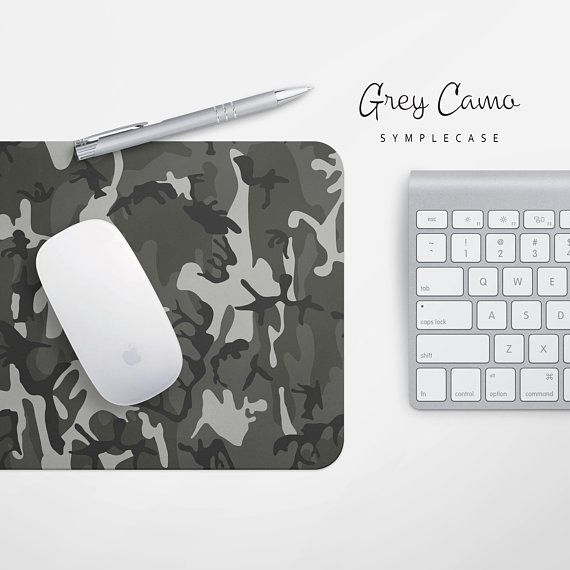 Grey Camo Mousepad Office Gifts For Men Desk Accessories For Coworkers  Boyfriend Gift Rectangular Camouflaged Mouse Mat   Mousepad, Desk  Accessories And ...