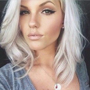 Platinum blonde with a hint of silver. Would you try this? via @buzzfeedstyle courtsey of @hairlovelove