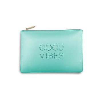 New KATIE LOXTON perfect pouches and clutch bags now available from our online store. #jewellery #shopping #accessories - KATIE LOXTON Good Vibes Polka Dot Perfect Pouch Clutch Bag Pale Mint
