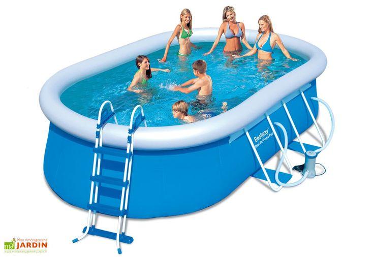 17 meilleures id es propos de piscine hors sol acier sur - Pose piscine hors sol ...