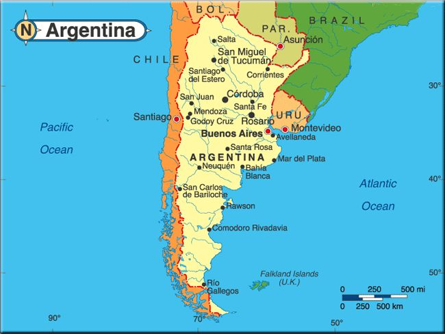 Best Argentina Images On Pinterest Landscapes Mendoza And - Argentina map location