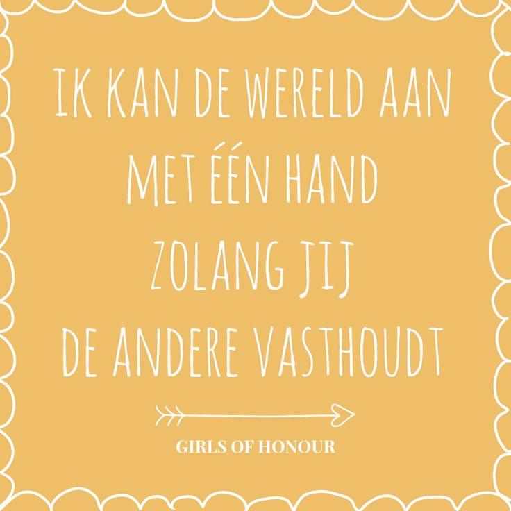 Girlpower is like... :) #liefde #tegeltjeswijsheid #girlsofhonour #trouwen #quote #liefdesquote