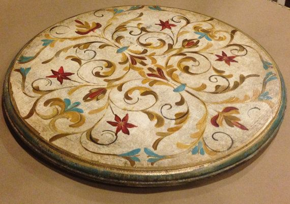 Hand painted Lazy Susan designed and made just for you! Made of mdf this work of functional art is cut and routered by hand. Fitted with
