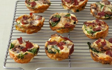 Mini Spinach and Mushroom Quiches by Food Network Kitchens (Mushroom, Spinach) @FoodNetwork_UK