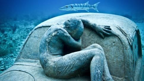 Artist Jason deCaires Taylor installs stunning underwater sculptures made with pH neutral cement to change the underwater landscape and help marine life. (Courtesy of Jason deCaires Taylor)