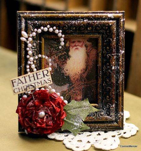 Christmas Frame created by Connie Mercer using Darkroom Door 'Dear Santa' Photochips and Wordstrip.
