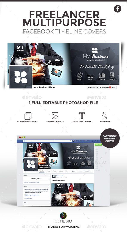 Freelancer Facebook Timeline Cover Template PSD. Download here: http://graphicriver.net/item/facebook-timeline-cover-freelancer/14748101?ref=ksioks