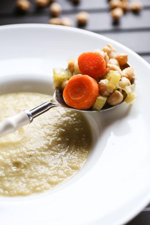 Итальянский суп с нутом и сельдереем