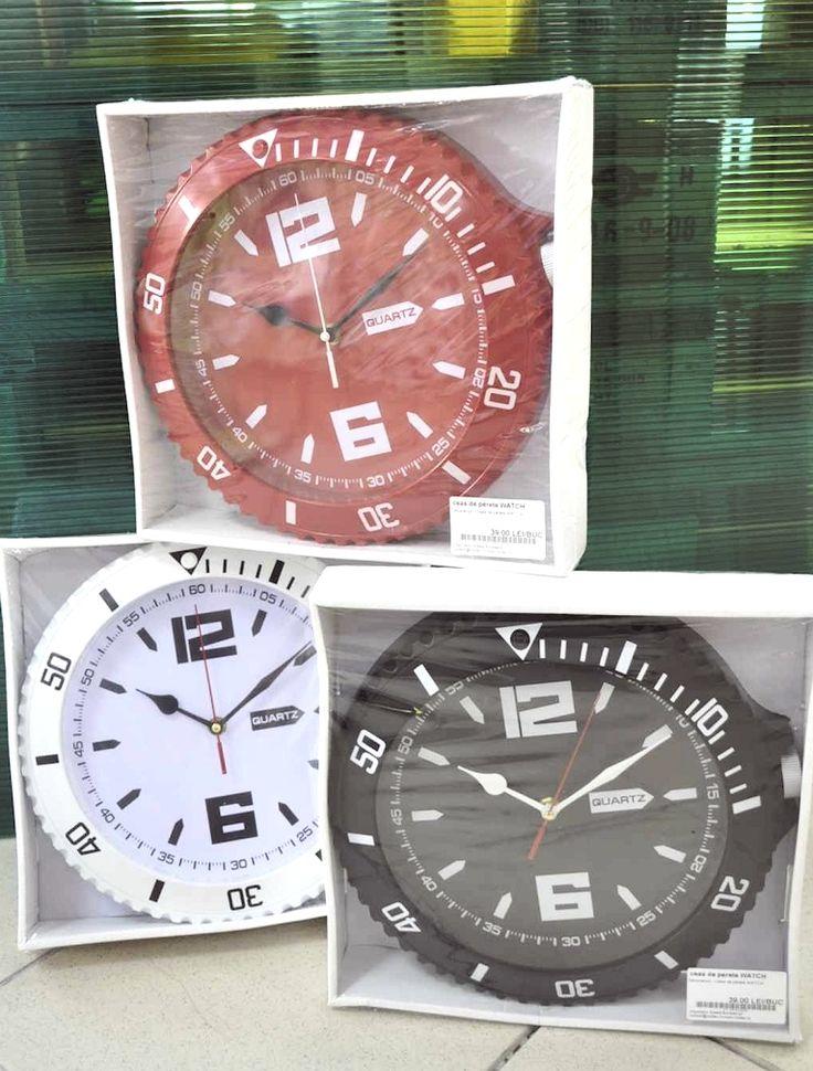 Ceas de perete WATCH. Diferite culori. art.-nr: 01042. Lei 39.-