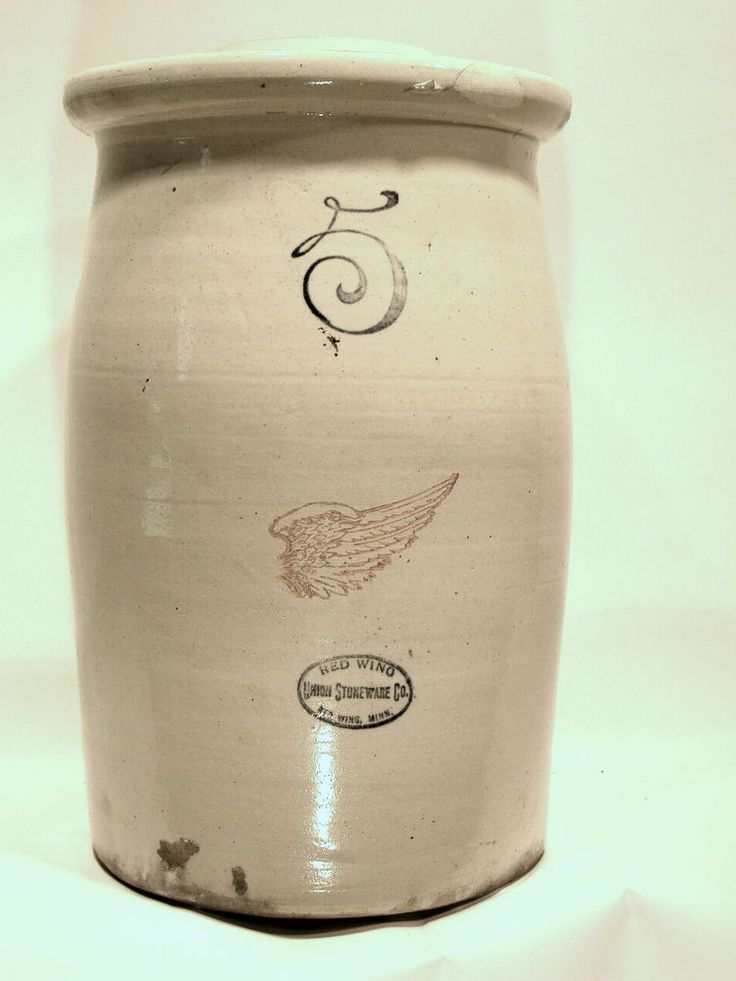 Rare Red Wing Stoneware 5 Gallon Butter Churn Crock Redware..GREAT DISPLAY #Americana #RedWing