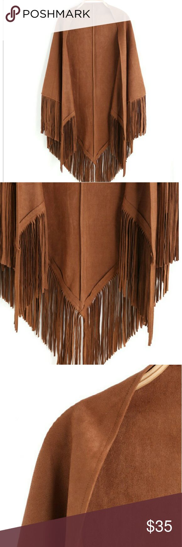 Suede tassle scarf -suede tassle scarf -never been worn *firm price* Accessories Scarves & Wraps