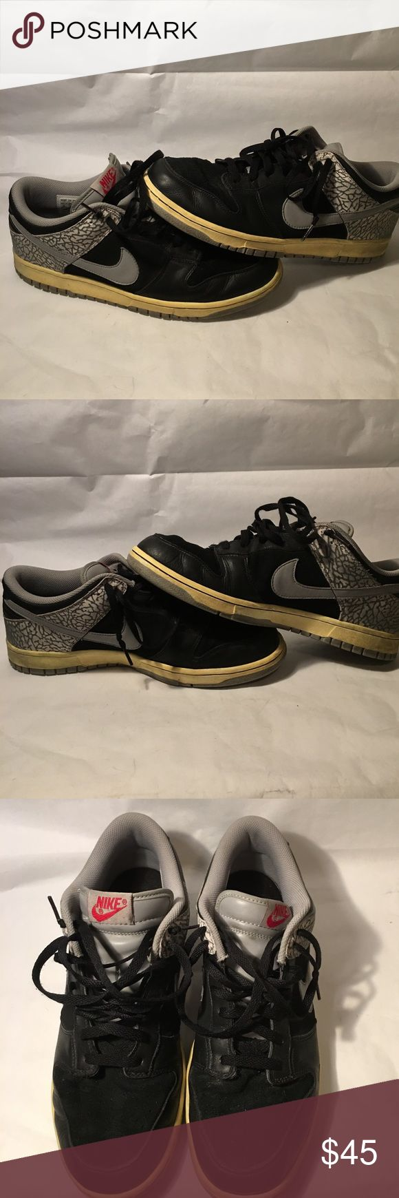 Nike: Air Jordan 3 Dunk Low Nike: Air Jordan 3 Dunk Low / Black and Cement Gray / Size 13 / Worn as work shoes so they have some creasing and some scuffs. Soles are still in great shape / No Box Nike Shoes Sneakers