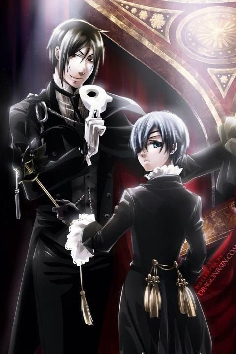 Sebastian Michaelis & Ciel Phantomhive Kuroshitsuji Manga Reading from Chapter 1 to 97 http://www.mangaeden.com/en-manga/kuroshitsuji/ Season 1 http://dubbedanime.net/anime/black-butler-english-dubbed Season 2 http://dubbedanime.net/anime/black-butler-ii-english-dubbed Season 3 http://animewaffles.tv/Details-Kuroshitsuji-Book-of-Circus-1327 OVA's http://www.funniermoments.com/tag.php?t=black-butler