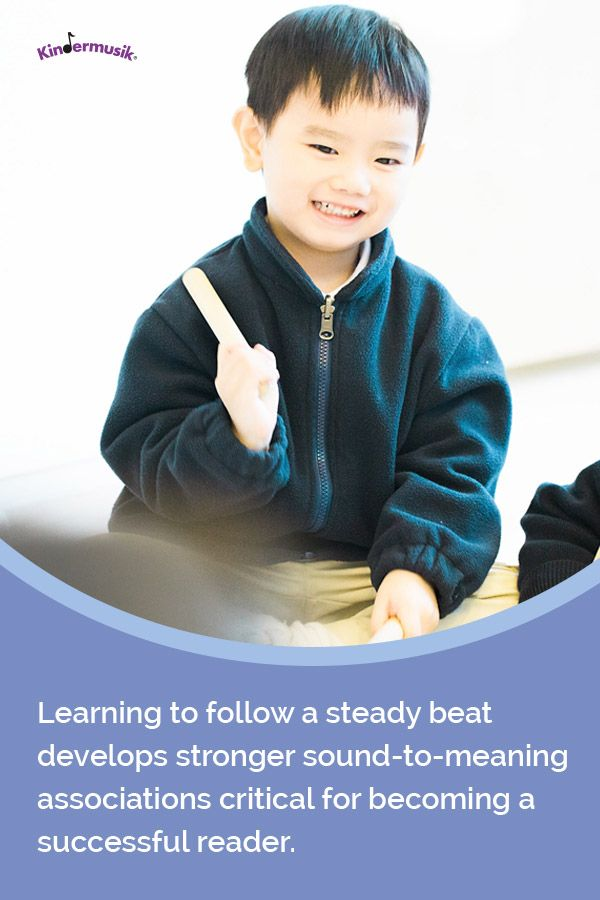 Learning to follow a steady beat develops stronger sound-to-meaning associations critical for becoming a successful reader.