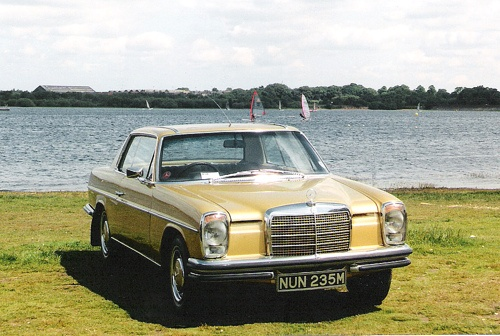 1973 Mercedes-Benz 280CE seen at Chasewater show, circa 1997.