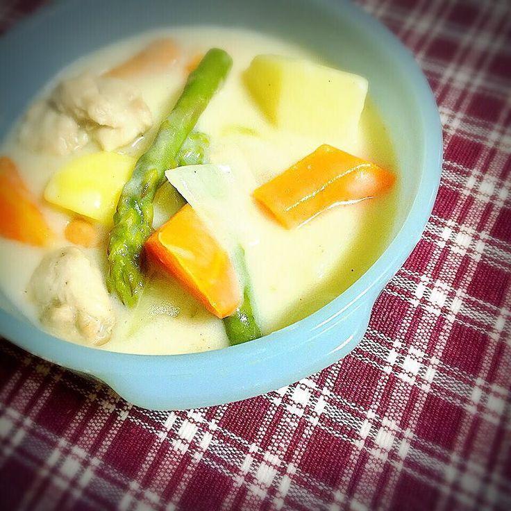 あんまり寒いので冷蔵庫の残り野菜でシチュー  #よるごはん #ばんごはん #うちごはん #てづくり #シチュー #野菜 #野菜たっぷり #野菜を食べよう