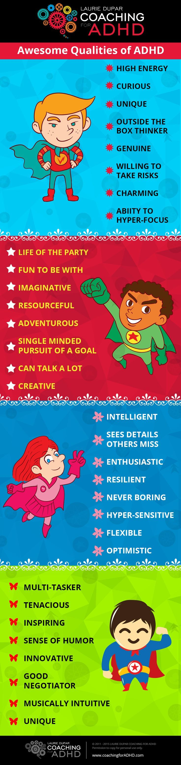31 Awesome Qualities of ADHD...which one's do you have? | www.BrainHealth.Rocks                                                                                                                                                      More