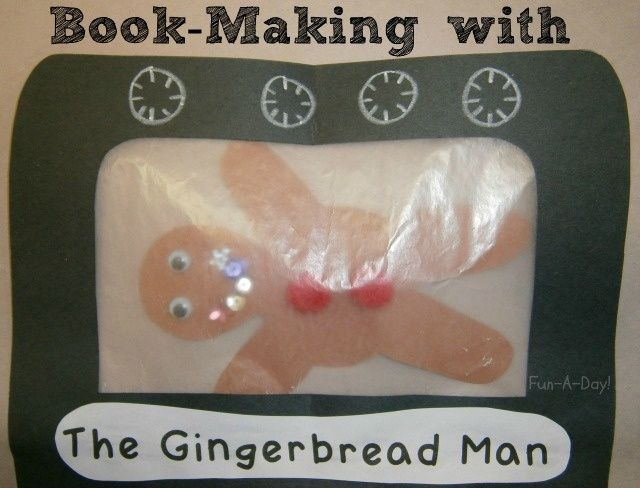 Making books with children engages their interest in reading in new ways. Here's a book-making activity based on The Gingerbread Man