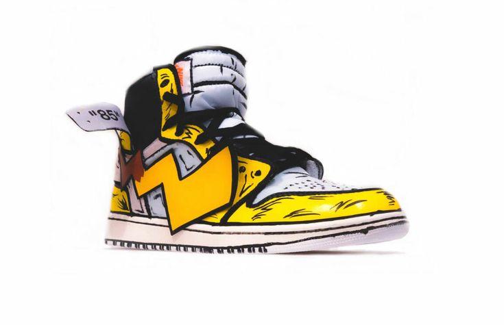 Pikachu as a shoe - custom Air Jordans   Ежедневник