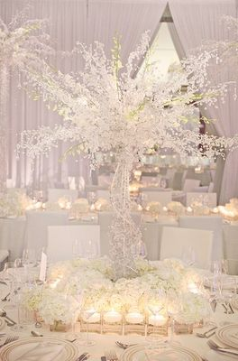 wow, an ALL white wedding. would be hard to make everything in the room white. but would be awesome