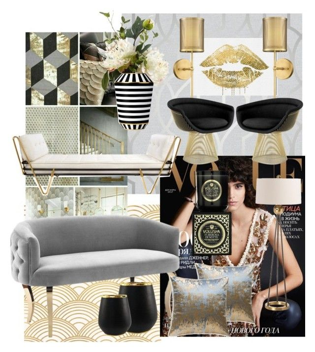 ArtDeco in 2017 by myhouse-myideas on Polyvore featuring polyvore interior interiors interior design home home decor interior decorating Jonathan Adler Knoll Possini Euro Design Barclay Butera Oliver Gal Artist Co. Cloud 9 Voluspa Fürstenberg Sagebrook Home Apex