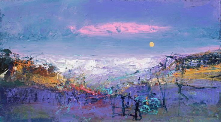 Nael Hanna, Pink and Purple, Fife, Mixed Media | Scottish Contemporary Art