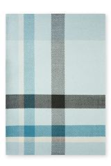 Teal Over Sized Check Rug