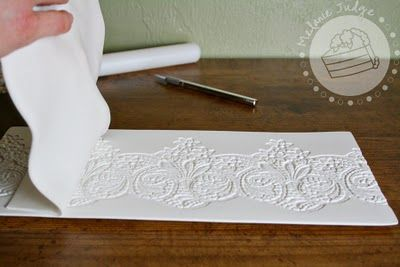 Fondant Lace Tutorial from Cake Walk - clever!