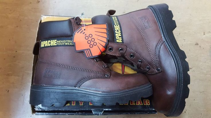 Apache Brown Safety Toe Cap Boots. Sizes 5/6 UK Only. | eBay!