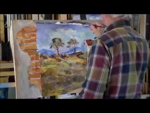 Creating an oil painting on canvas (Artist: Louis Pretorius)