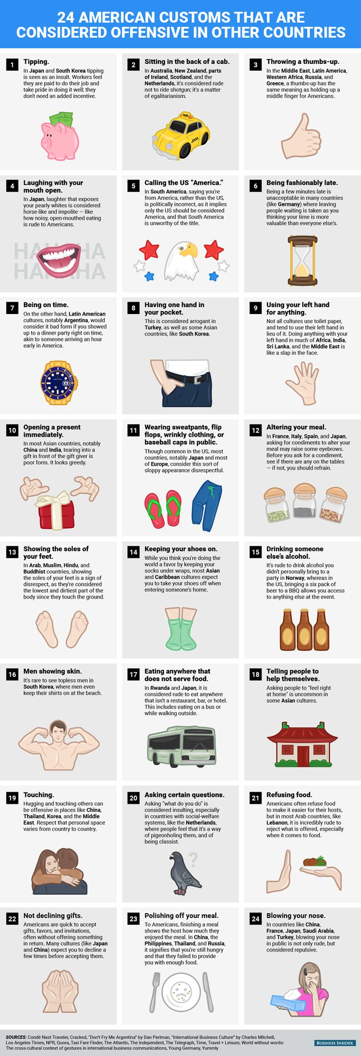 86 best travel etiquette customs tipping images on pinterest 25 common offensive american customs in other countries m4hsunfo