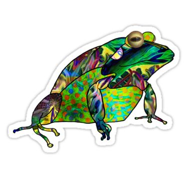 Psychedelic Frog Sticker by StickerNuts