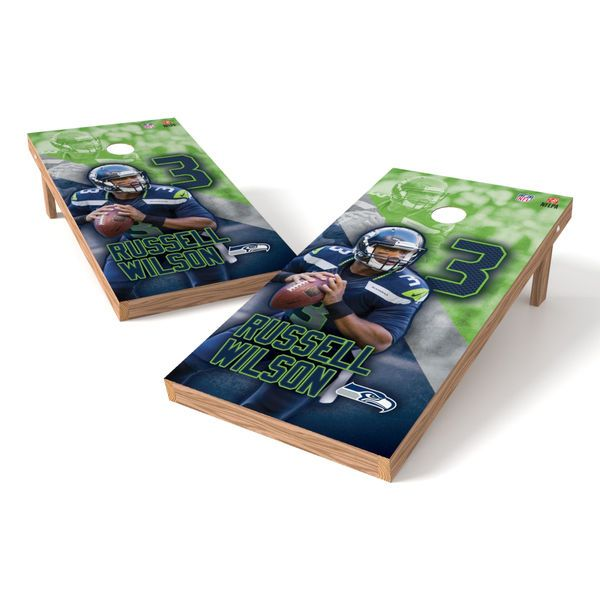 Russell Wilson Seattle Seahawks Player Tailgate Cornhole Set - $259.99