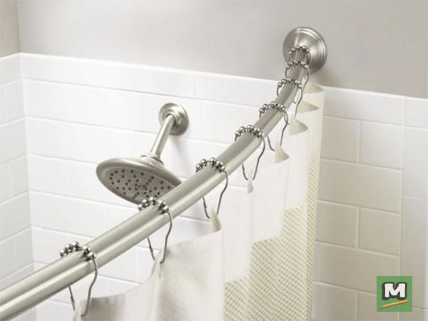 Transform Your Shower With The Moen Curved Shower Rod Moen Bath Accessories Set The Standard For Exceptional Beauty And Reliable In Shower Rod Shower Curtain Rods Bathroom Accessories